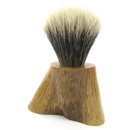 #2/100 Limited Edition Hand Carved Calabrian Oak Wood Manchurian Badger