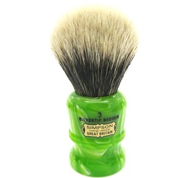 Duke 3 Two Band Silvertip Badger Lime Swirl