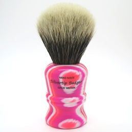 SALE Simfix #404 Two Band Silvertip Badger Neon Pink