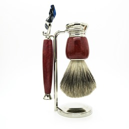 SALE Simpson Luxury Shaving Set Briar Root Hardwood Fusion