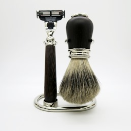 SALE Simpson Luxury Shaving Set Wenge Hardwood Mach III