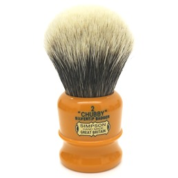 Chubby 2 Two Band Silvertip Badger faux Butterscotch