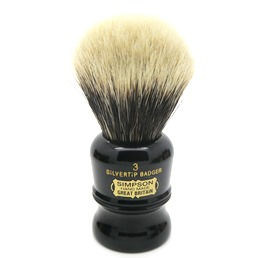 Duke 3 Two Band Silvertip Badger faux Ebony