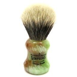 Eagle 3 Two Band Silvertip Badger faux Jade