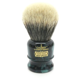 Chubby 2 Two Band Silvertip Badger faux Emerald