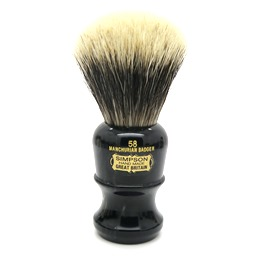 SALE 58 Manchurian Badger faux Ebony Marble