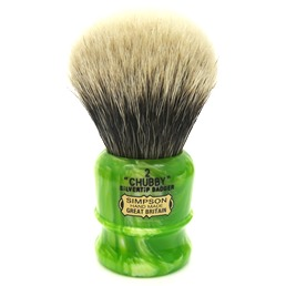 Chubby 2 Two Band Silvertip Badger Lime Swirl