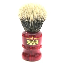 Duke 3 Two Band Silvertip Badger faux Ruby