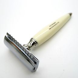 NEW RELEASE Simpson SR1 Double Edge Safety Razor faux Ivory