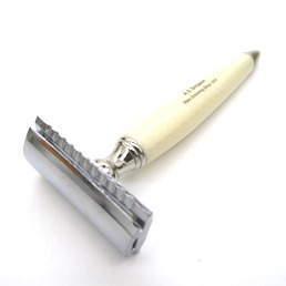 NEW RELEASE Simpson SR1 Double Edge Safety Razor faux Ivory Vein