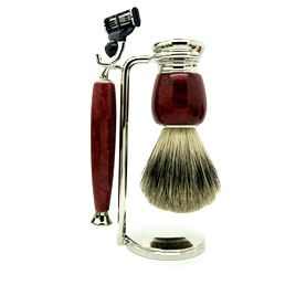 SALE Simpson Luxury Shaving Set Briar Root Hardwood Mach III