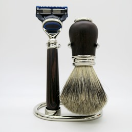 Christmas SALE Simpson Luxury Shaving Set Wenge Hardwood Fusion